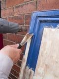 Peignez les placards de dépouillement de cuisine Photos stock