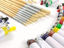 Peignez les tubes Photographie stock