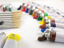 Peignez les tubes et les balais Images libres de droits