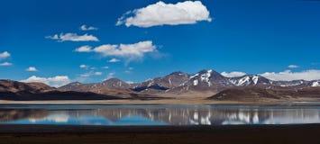 Peiku Tso湖,西藏 库存图片