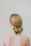 Peinado asiático de la mujer Foto de archivo