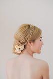 Peinado asiático lindo de la mujer Fotografía de archivo
