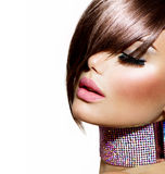 Peinado. Belleza Girl modelo foto de archivo libre de regalías