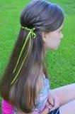 Peinado con el pelo largo Foto de archivo