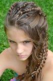 Peinado con el pelo largo Fotografía de archivo libre de regalías