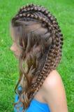 Peinado con el pelo largo Imágenes de archivo libres de regalías