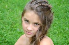Peinado con el pelo largo Fotos de archivo libres de regalías