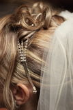 Peinado de la boda Imágenes de archivo libres de regalías