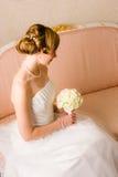 Peinado de la boda Fotografía de archivo