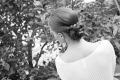 Peinado de la boda Foto de archivo libre de regalías