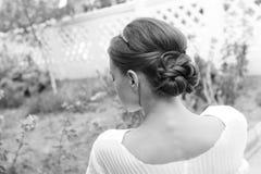 Peinado de la boda Imagen de archivo