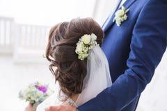 Peinado de la boda de la novia Fotos de archivo