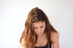 Peinado en la longitud media del pelo imagen de archivo