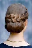 Peinado especial, pelo trenzado Fotos de archivo libres de regalías