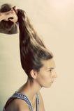 Peinado excéntrico Imagen de archivo