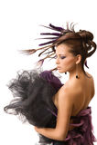 Peinado hermoso foto de archivo