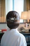 Peinado hermoso de la boda de detrás imágenes de archivo libres de regalías
