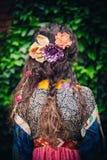Peinado romántico del verano Fotografía de archivo
