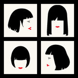 Peinados Fotos de archivo