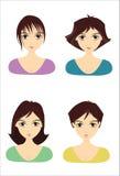 Peinados de la muchacha Fotografía de archivo