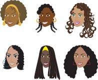 Peinados negros naturales 1 Foto de archivo libre de regalías