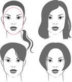 Peinados para la cara oval Fotografía de archivo libre de regalías