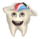 Peine del diente su pelo Fotos de archivo libres de regalías