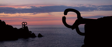 Peine del viento (Peine del viento, Chillida). Fotografía de archivo libre de regalías
