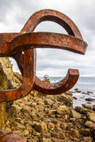 Peine del Viento (Wind Comb). Created by the sculptor Eduardo Chillida (San Sebastian, 1924 - 2002) and the architect Luis Pena Ganchegui (Onati, 1926 - San Royalty Free Stock Photos