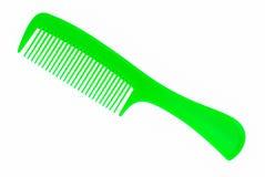 Peine verde del pelo Imágenes de archivo libres de regalías