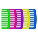 Peines coloridos ilustración del vector