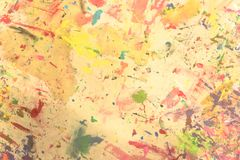 Peint à la main acrylique grunge abstrait sur le fond de toile photographie stock libre de droits