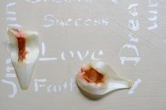 Peint à la main et remettez le dessus de table conçu avec les énonciations personnelles o Photo stock