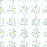 Peint avec les fleurs lumineuses Illustration de Vecteur