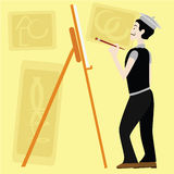 Peintre Photographie stock