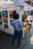 Peintre au 61th trottoir annuel Art Show photo libre de droits