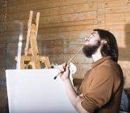 Peintre au travail photo libre de droits
