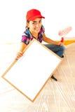 Peintre avec la planchette photographie stock