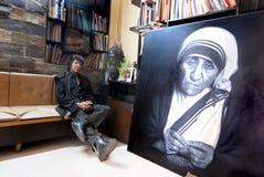 Peintre célèbre image stock