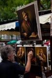 Peintre dans Montmartre, Paris Photographie stock libre de droits