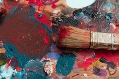Peintre de brosse et de peinture Image stock