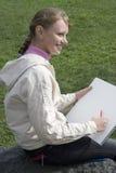 Peintre de fille Photo libre de droits