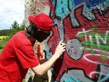 Peintre de Graffity Photo stock