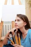 Peintre de jeune fille image libre de droits