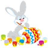 Peintre de lapin de Pâques Image libre de droits