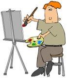 Peintre de pétrole Image stock
