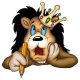 Peintre de roi de lion illustration de vecteur