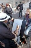 Peintre de rue Photographie stock libre de droits