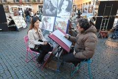 Peintre de rue Photos stock