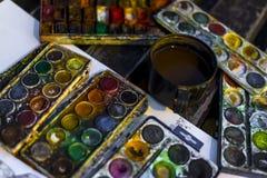 Peintre de rue photo libre de droits